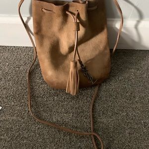 YSL Suede satchel bag
